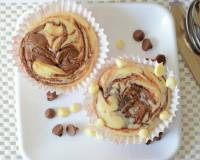 Eggless Nutella Swirl Cupcakes Recipe