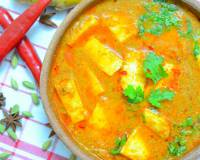 Kashmiri Style Veth Chaman Recipe-Paneer in Yogurt & Tomato Curry