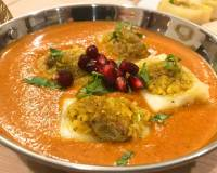 Sweet & Spicy Stuffed Paneer In Kofta Curry Recipe