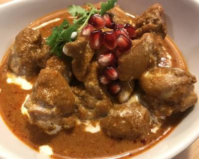 Murg Anardana Recipe - Pomegranate Chicken In Yogurt Gravy
