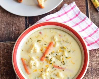Roasted Cauliflower Soup Recipe