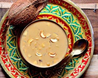 Ada Pradhaman Recipe - Kerala Style Rice Ada Pudding With Jaggery & Coconut Milk