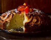 Eggless Cinnamon Flavoured Apple & Plum Cake Recipe