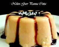 Nolen Gur Panna Cotta Recipe (Fresh Dates Jaggery Panna Cotta)