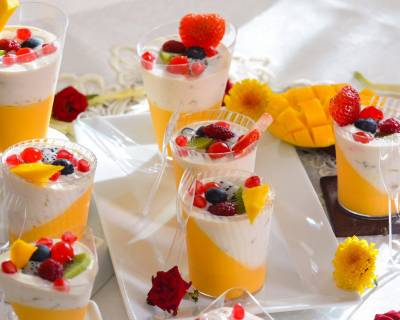 Mango Panna Cotta With Fruit Cream Recipe