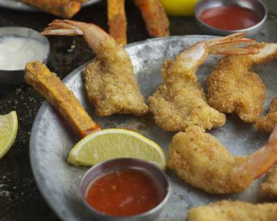 Prawn Cutlets With Sweet Potatoes Wedges Recipe