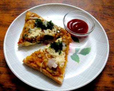 Pav Bhaji Pizza Recipe
