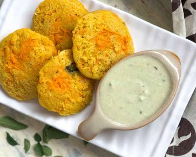 Healthy Pumpkin Carrot Idli Recipe