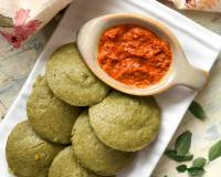 Pudina Idli Recipe - Mint Flavoured Idli