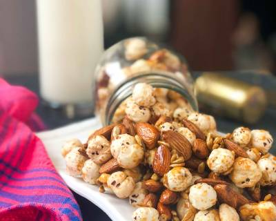 Makhana Badam Mixture Recipe - Healthy Snack/ Trail Mix