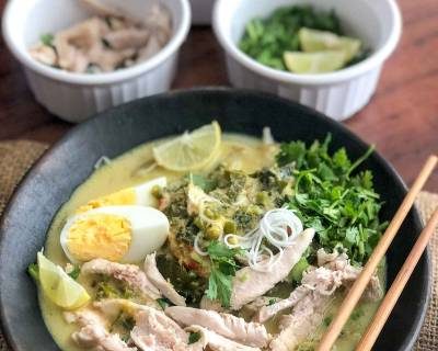 Soto Ayam Recipe - Indonesian Chicken Noodle Meal bowl
