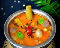 Andhra Style Mukkala Pulusu Recipe-Mixed Vegetable Sambar