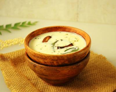 Uddina Hittu Recipe (Udnittu) | Urad Dal Flour In Spiced Buttermilk