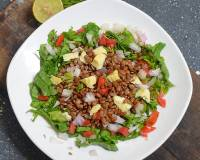 Warm Red Lentil Salad With Goat Cheese Recipe