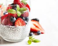 Almond Milk Chia Seeds Pudding With Fresh Fruits Recipe
