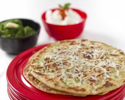 4 Cheese Paratha With Chilli & Herbs Recipe