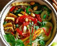 Spicy Vegetarian Thai Noodle Bowl Recipe