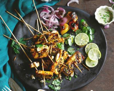 Sweet And Spicy Thai Style Paneer Recipe