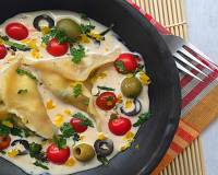 Italian Home Style Ravioli in Lemon Recipe-Garlic White Sauce Recipe