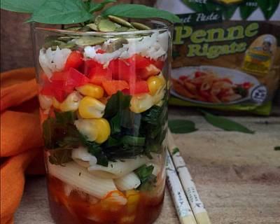 Spinach And Corn Pasta Salad In Jar Recipe
