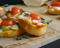 Crostini With Peppers & Cheese Recipe