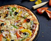 Garlic Crust Vegetable Pizza Recipe