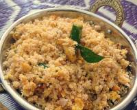 Kerala Style Puttu Upma Recipe With Scrambled Eggs