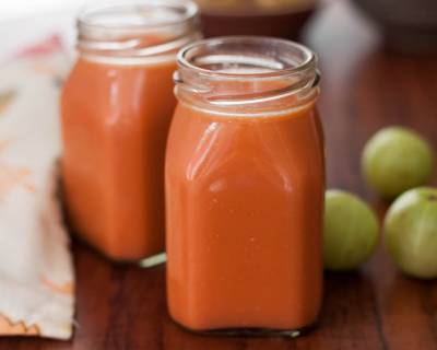 Carrot Amla Pomegranate Juice Recipe