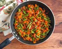 Carrot Beans Sukhi Sabzi Recipe With Simple Masala