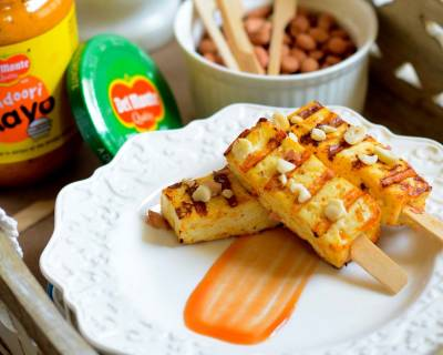 Delicious Paneer Satay Recipe With Tandoori Mayo Recipe
