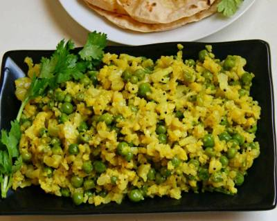 Cauliflower And Peas Bhurji Recipe