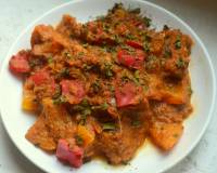 Capsicum In Coconut And Peanut Gravy Recipe