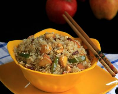 Chinese Vegetarian Fried Rice With Apples Recipe