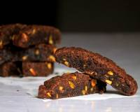 Eggless Chocolate Pistachio Biscotti Recipe