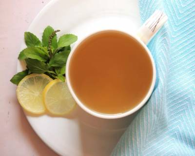 Ginger-Holy Basil Tisane - Adrak Tulsi Chai Recipe