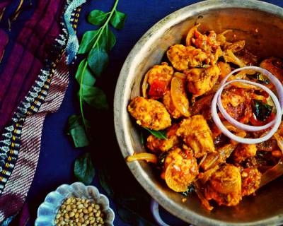 Andhra Style Chicken Fry Recipe