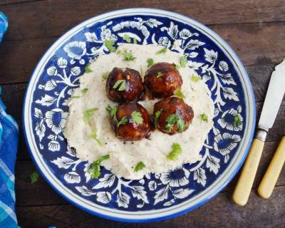 BBQ Meatballs With Mashed Potatoes Recipe