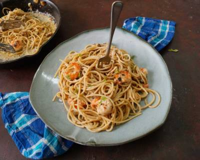 Garlic Shrimp Linguine Pasta Recipe