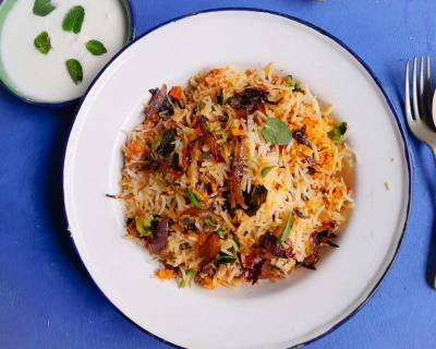 Keema Biryani Recipe (Minced Chicken Recipe)