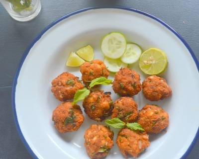 Prawn Fritters Recipe (Shrimp Vadai)