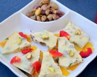 White Chocolate Pistachio Bars Recipe | White Chocolate Pistachio Fudge