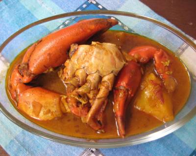 Kakrar Jhal Recipe - Bengali Style Crab Curry