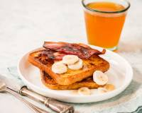French Toast Recipe With Oven Roasted Streaky Bacon