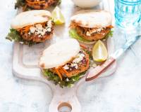 Moroccan Chicken Burgers With Feta And Carrot Recipe