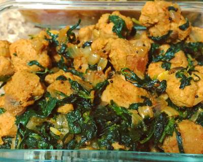 Methi & Soya Chunks Dry Sabzi Recipe