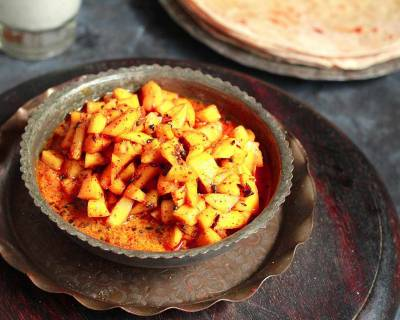Instant Gor Kairi Lonche Recipe - Sweet Raw Mango Pickle