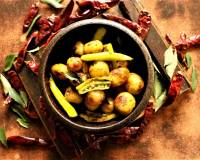 Bhaji Miligai And Baby Potato Fry Recipe
