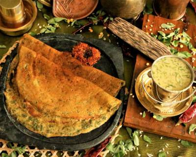 Menthya Dose (Dosa Recipe With Methi Leaves)