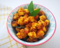 Aratikaya Tomato Koora Recipe - Andhra Style Plantains With Tomato
