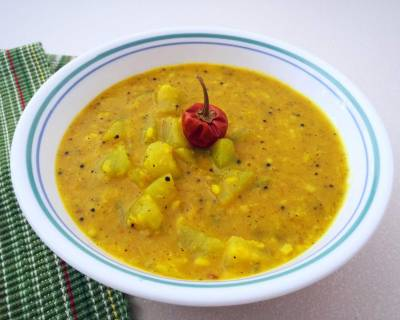 Chow Chow Milagu Kootu Recipe-Chayote Squash Cooked in Peppery Lentil Curry
